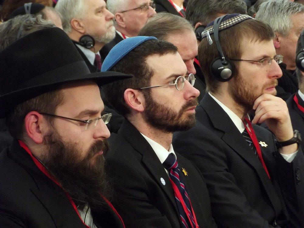 Observant Jews in Poland. Credit: Piotr Drabik via Wikimedia Commons.