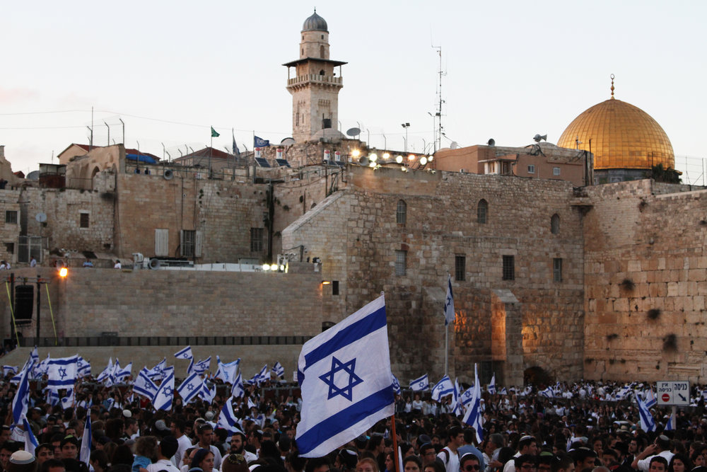 Israelis celebrate Jerusalem Day (Yom Yerushalayim), marking the reunification of the holy city, at the Western Wall in June 2011. Credit: Nicky Kelvin/Flash90.