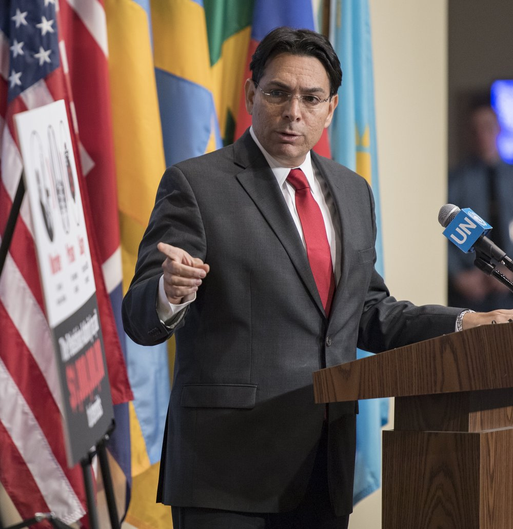 Israeli Ambassador to the United Nations Danny Danon addresses reporters May 11, 2017. Credit: UN Photo/Mark Garten.