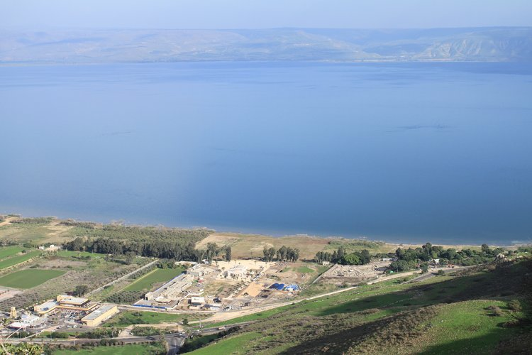 A view of the site where the Magdala Stone was unearthed, near the shores of the Sea of Galilee. Credit: Magdala Center and Israel Antiquities Authority.