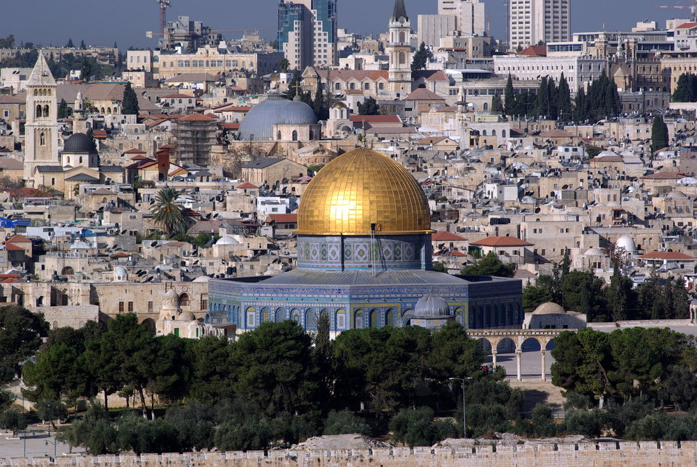 A view of Jerusalem, including the Dome of the Rock on the Temple Mount. Credit: Berthold Werner via Wikimedia Commons.
