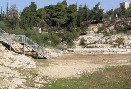 A pool in Jerusalem that was used by pilgrims to the Second Temple some 2,000 years ago, according to soon-to-be-published research. Credit: Dr. David Gurevich.
