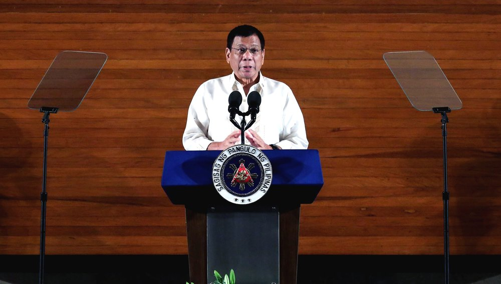 Filipino President Rodrigo Duterte (pictured) cut short his trip to Russia after Islamic State terrorists stormed a cathedral in Marawi and took more than a dozen churchgoers hostage Tuesday. Credit: Ace Morandante/Radio Television Malacañang/Presidential Photographers Division via Wikimedia Commons.