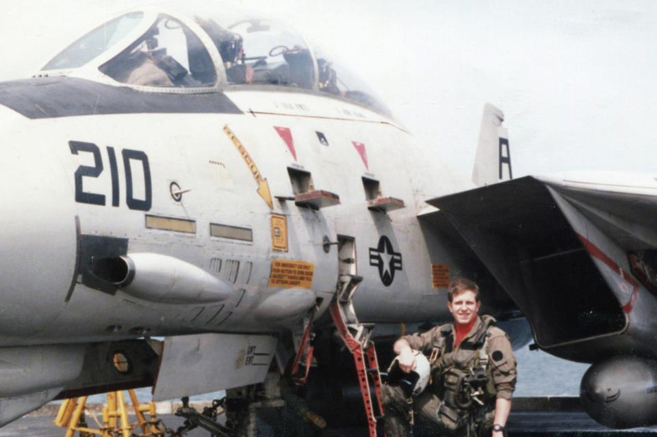 U.S. Navy veteran Jeff Kuhnreich (pictured), the new vice president of military affairs at the Jewish Institute for National Security of America, spent the majority of his military career flying in F-4 and F-14 combat planes. Credit: Jeff Kuhnreich via Facebook.