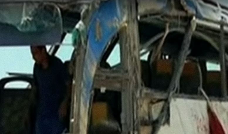A bus carrying Coptic Christians that was attacked Friday in Egypt. Credit: YouTube.