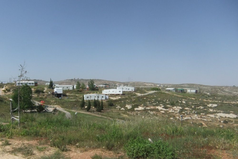 Judea and Samaria's former Amona community. Credit: Wikimedia Commons.