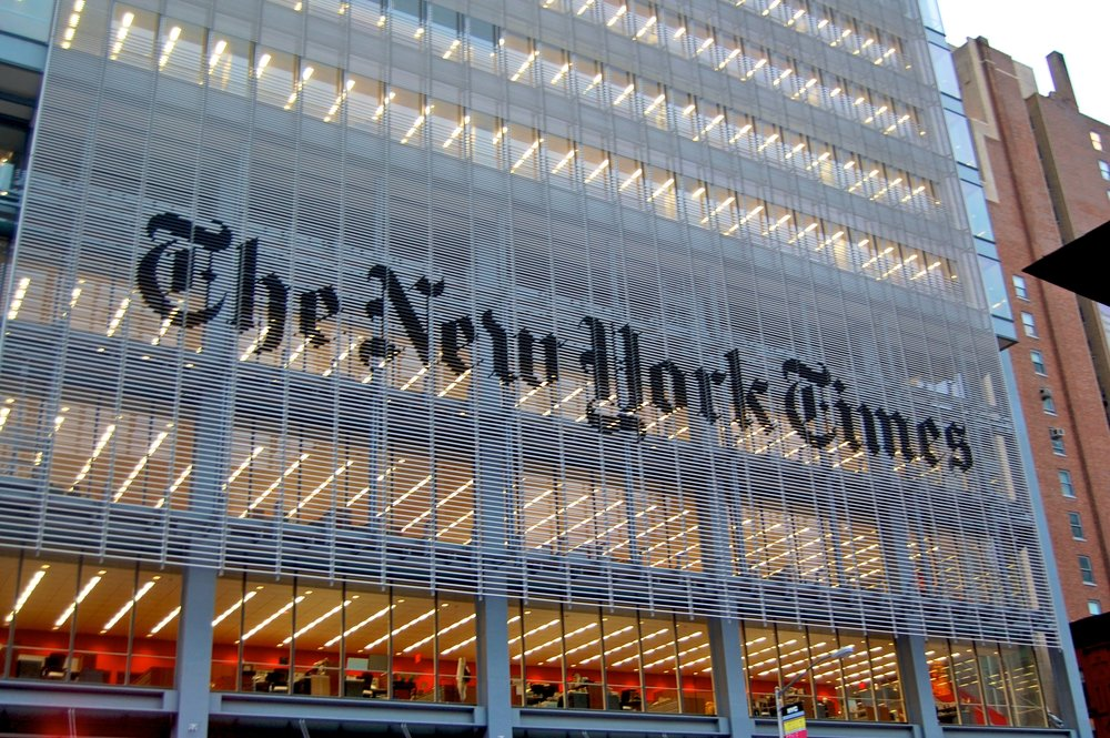 The headquarters of The New York Times. Credit: Wikimedia Commons.