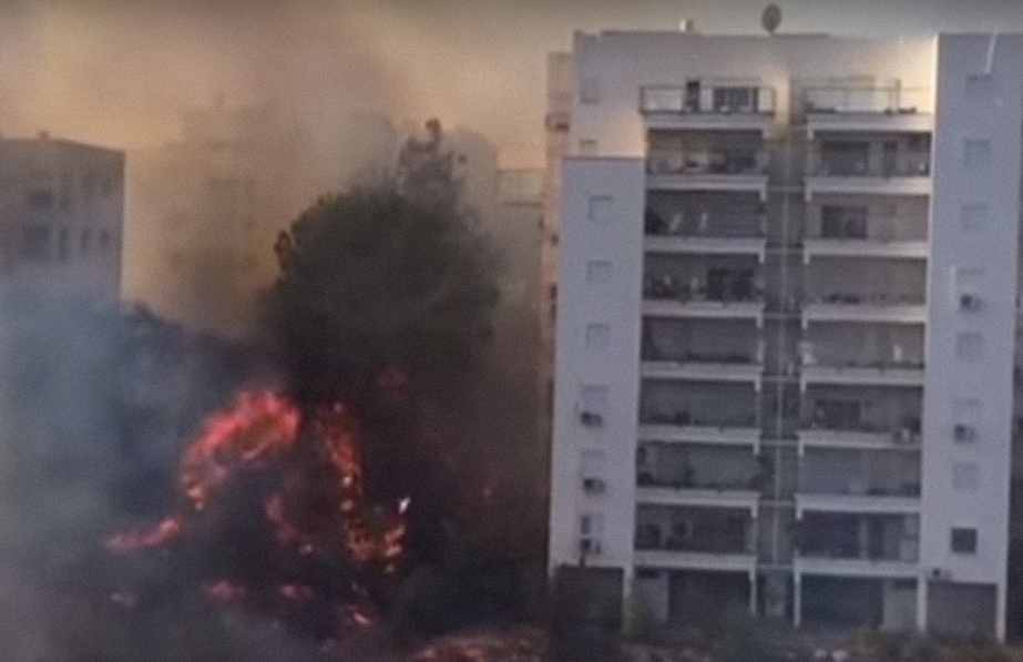 A fire rages in Israel last November. Credit: YouTube.