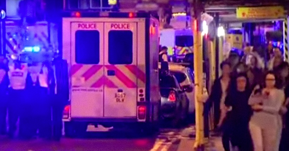 The scene after Saturday night's London Bridge terror attack. Credit: YouTube.