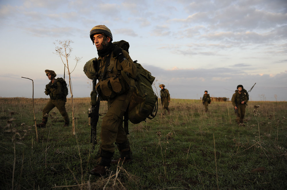 A past IDF exercise in northern Israel. Credit: IDF.