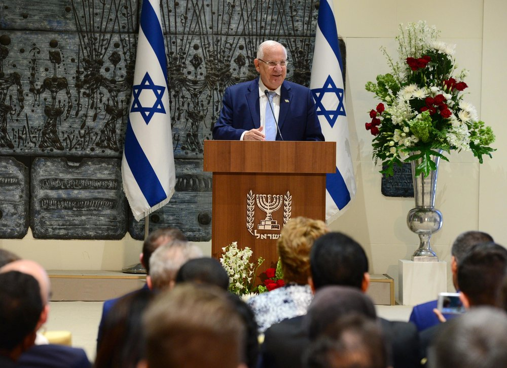 Israeli President Reuven Rivlin addresses Christian supporters of Israel from around the world. Credit: Mark Neiman/GPO.
