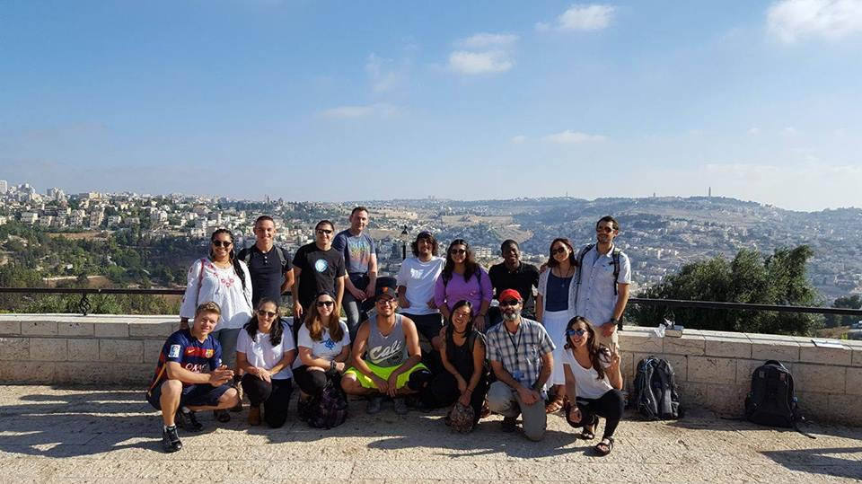 College students in Israel on a trip sponsored by the Maccabee Task Force in August 2016. Credit: Maccabee Task Force via Facebook.