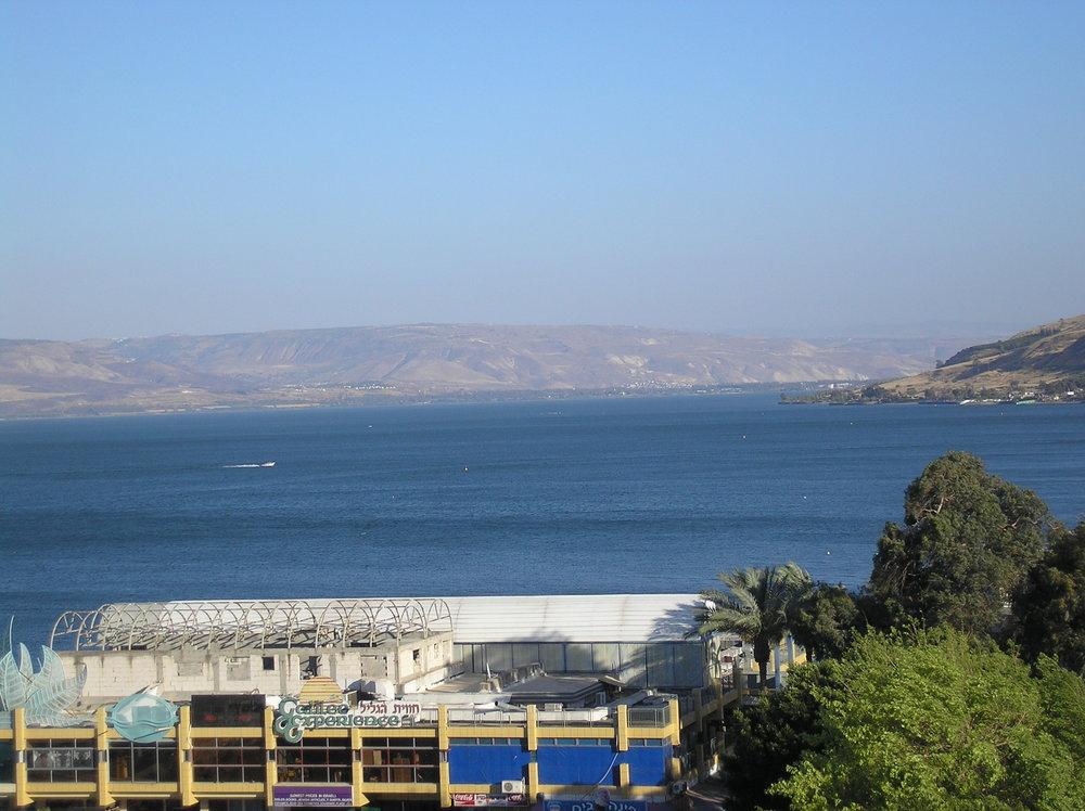 The Sea of Galilee. Credit: Deror Avi via Wikimedia Commons.