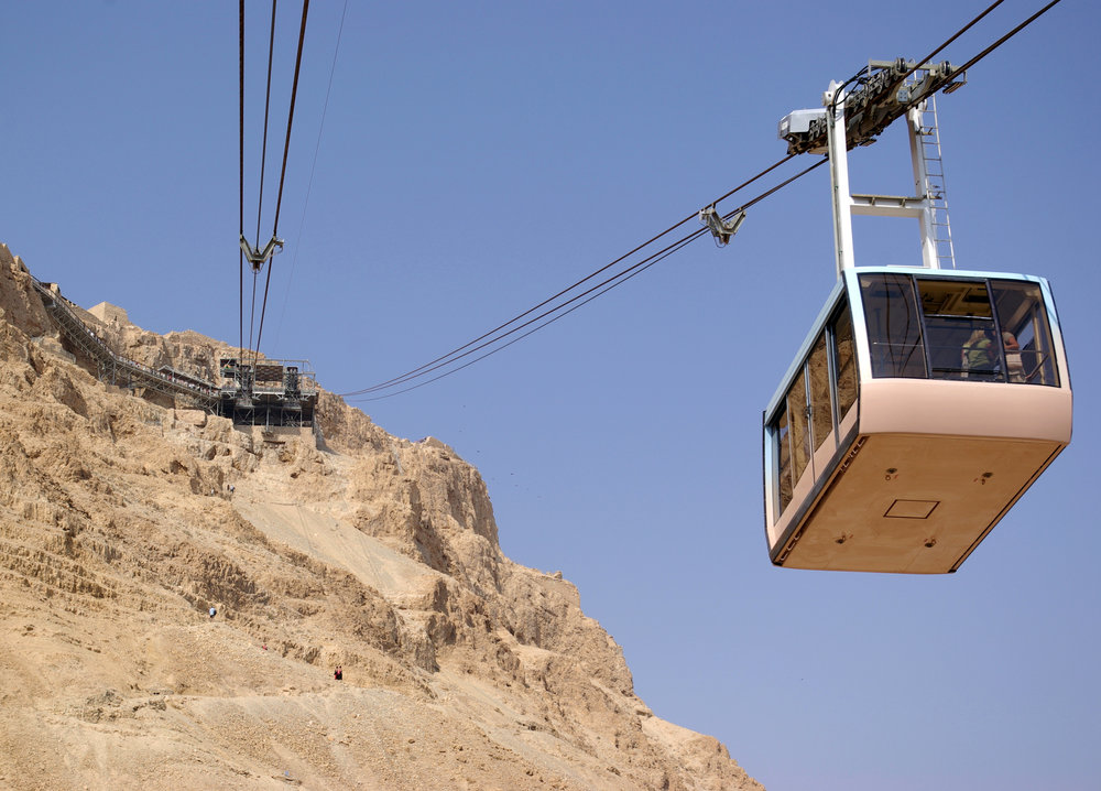 Masada, a popular tourist destination in Israel. Credit: Wikimedia Commons.