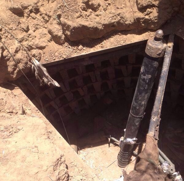 A Hamas-built terror tunnel found in Gaza in July 2014. Credit: IDF.