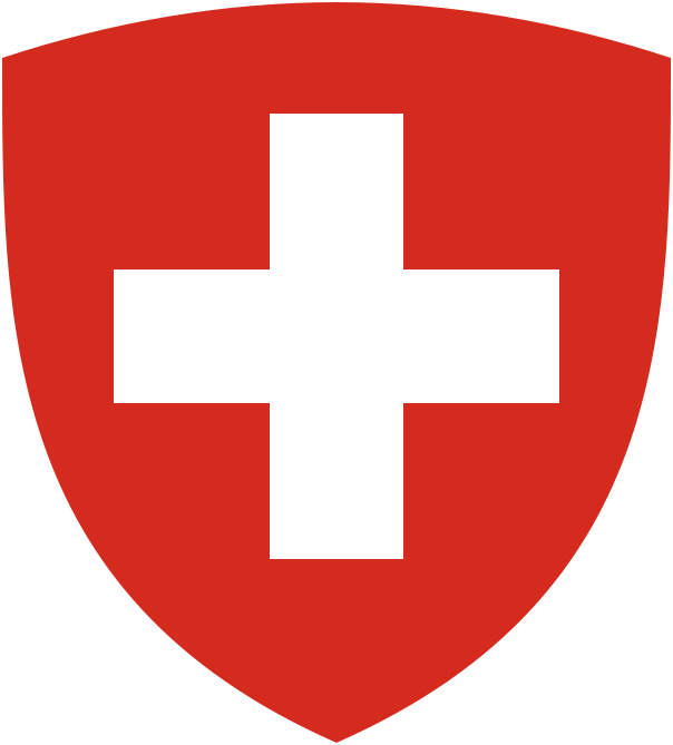 The coat of arms of Switzerland. Credit: Wikimedia Commons.
