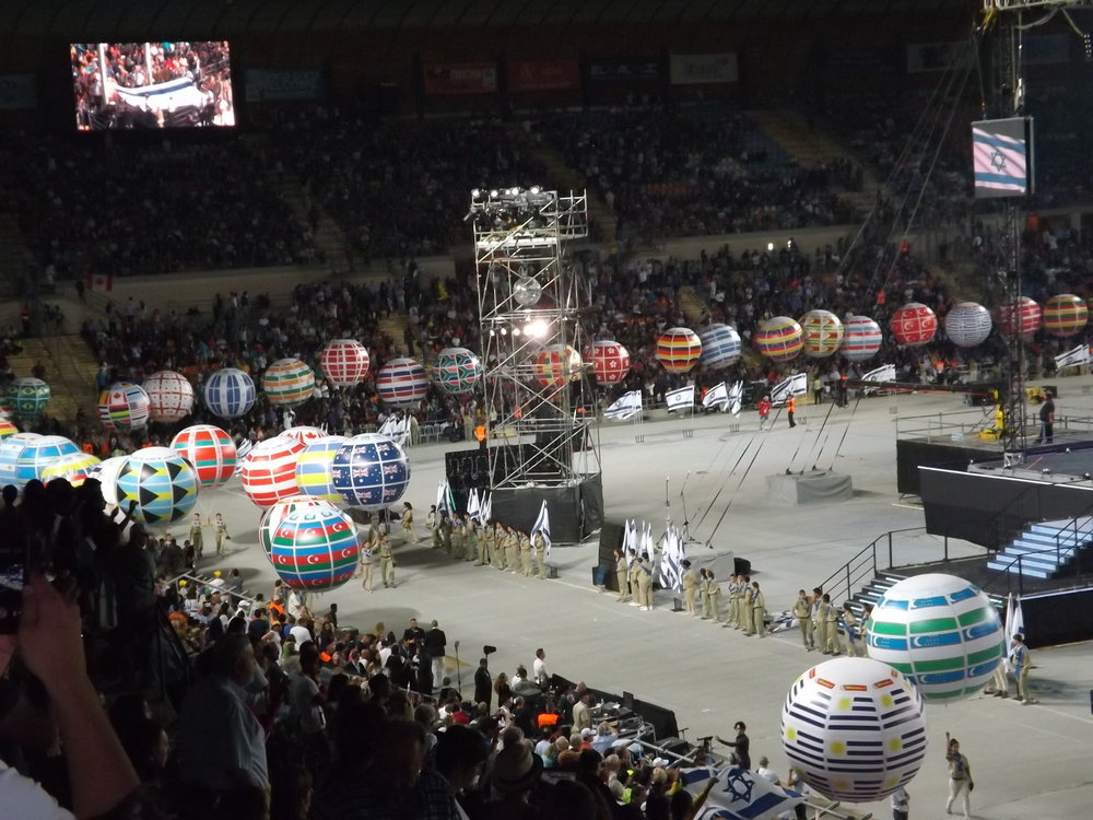 Balloons representing participant countries at the 2013 Maccabiah Games. Credit: Maor X via Wikimedia Commons.