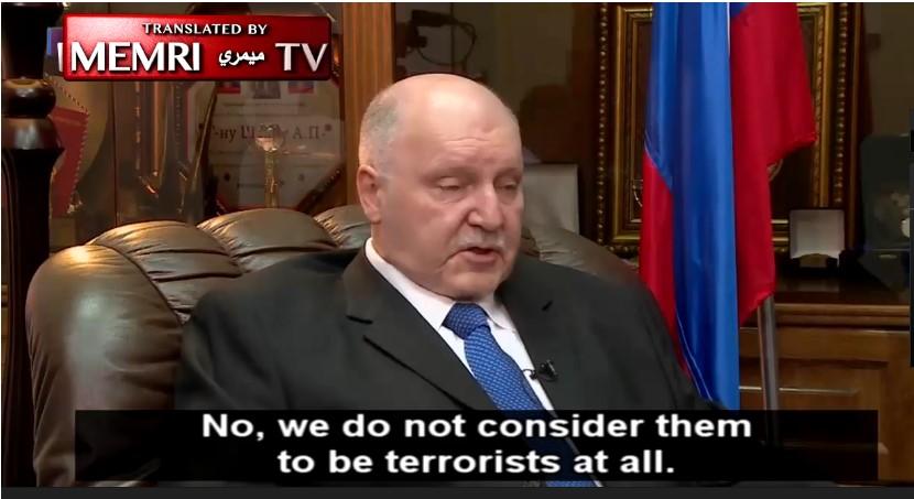 Russian Ambassador to Israel Alexander Shein appearing on Israel's Russian-language TV Channel 9. Credit: MEMRI TV.