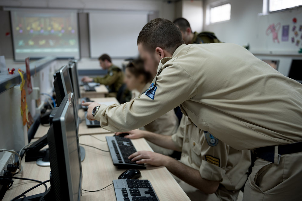 A group of IDF cyber cadets during a training exercise in March. Credit: IDF.