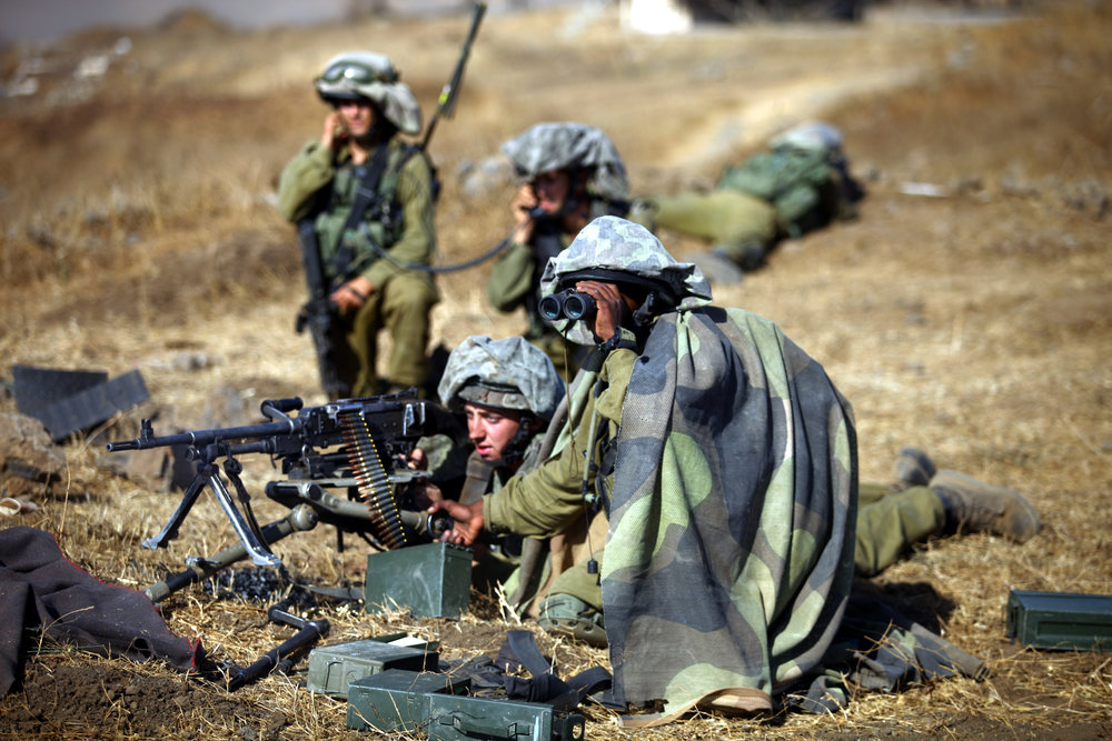 Israel Defense Forces soldiers conducting training exercise in the Golan Heights. Credit: IDF.
