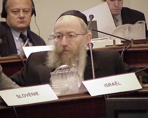 Israeli Health Minister Yakov Litzman. Credit: Wikimedia Commons.