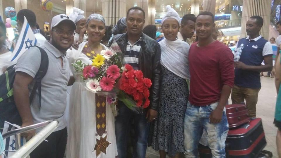 New Ethiopian immigrants arrive in Israel this week. Credit: Facebook.