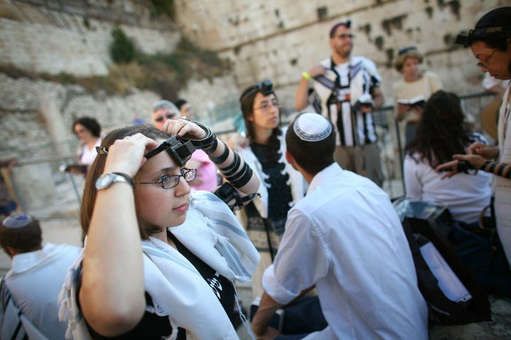 An egalitarian prayer service near the Western Wall. Credit: Michal Patelle - Women of the Wall