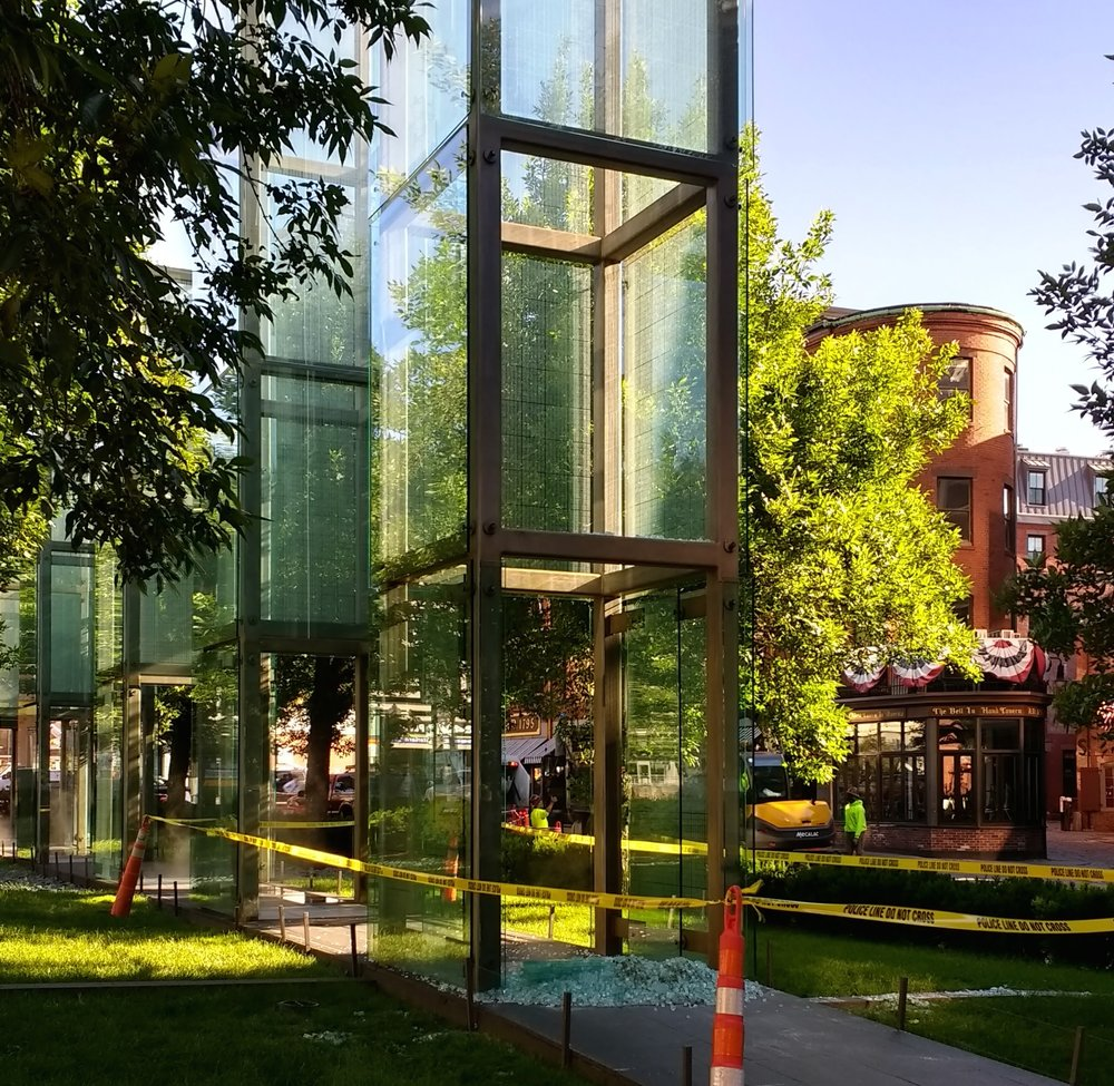 Boston's Holocaust memorial following Wednesday's vandalism. Credit: Wikimedia Commons.