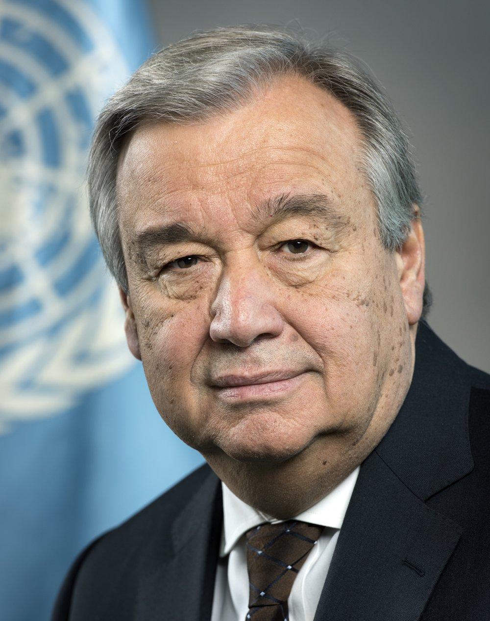 United Nations Secretary-General António Guterres. Credit:U.N. Photo/Mark Garten.