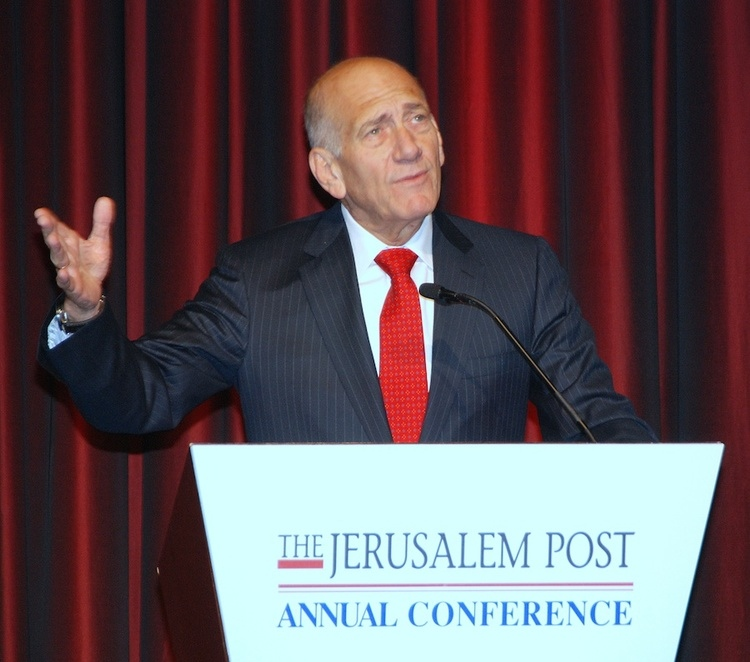 Former Israeli Prime Minister Ehud Olmert. Credit: Maxine Dovere.