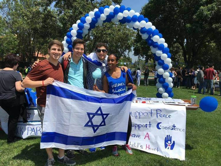 An event organized by Rebecca Avera (pictured in front at right), the Israel Fellow at Stanford University. Credit: Courtesy Rebecca Avera.