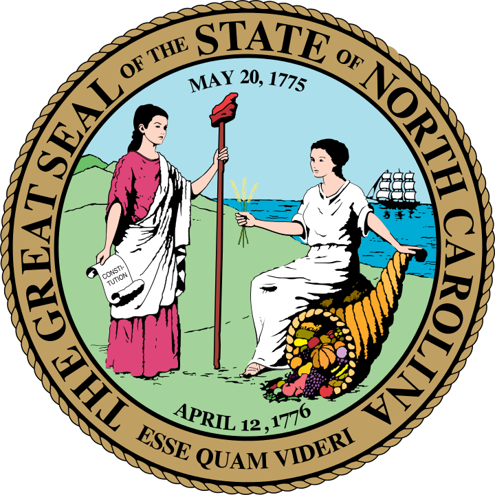 The seal of North Carolina. Credit: Wikimedia Commons.
