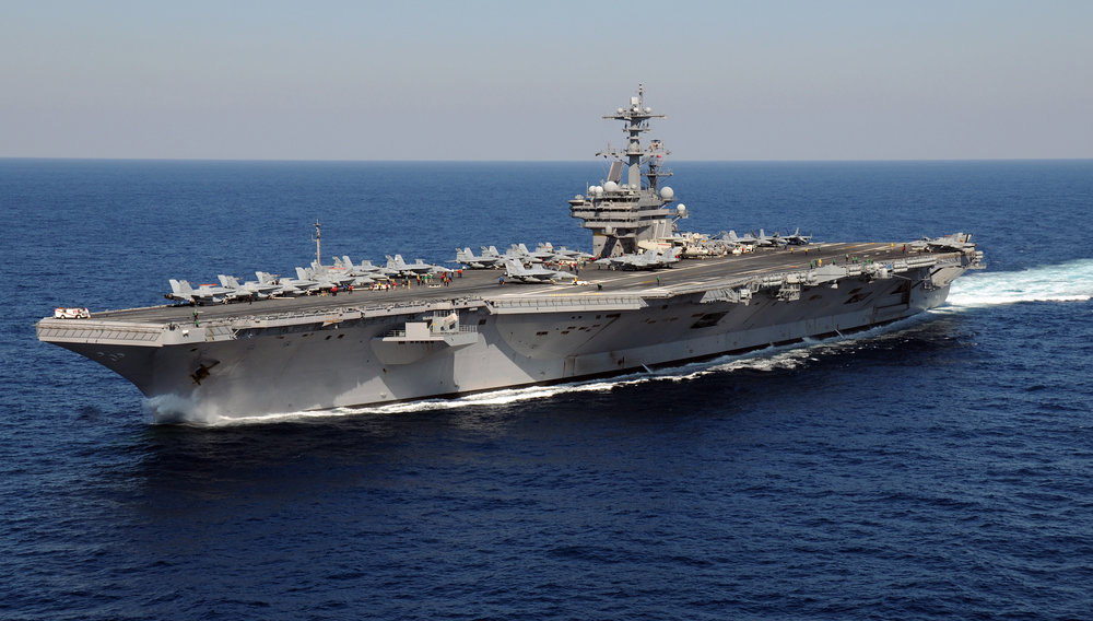 The USS George H.W. Bush aircraft carrier. Credit: U.S. Navy photo by Mass Communication Specialist 3rd Class Nicholas Hall.
