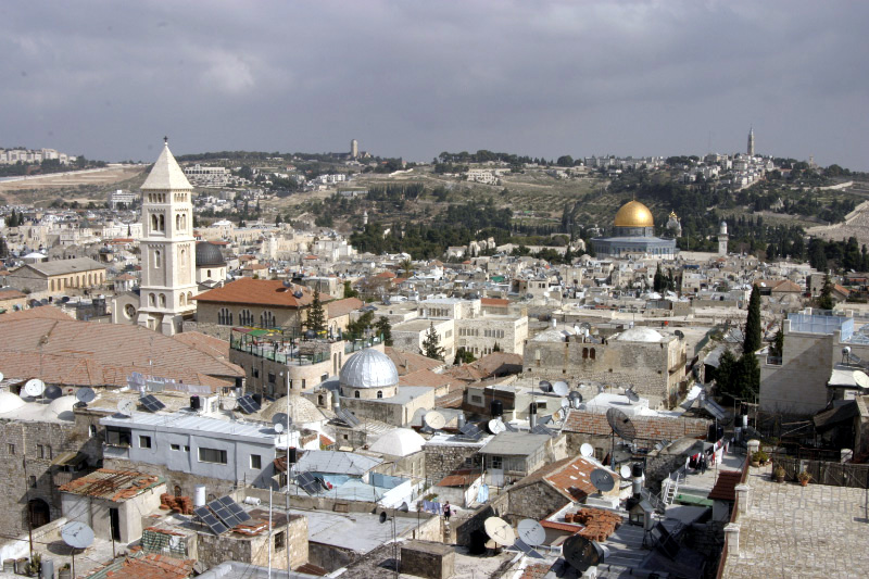 A view of Jerusalem's Old City. Credit:Shmuel Spiegelman via Wikimedia Commons.