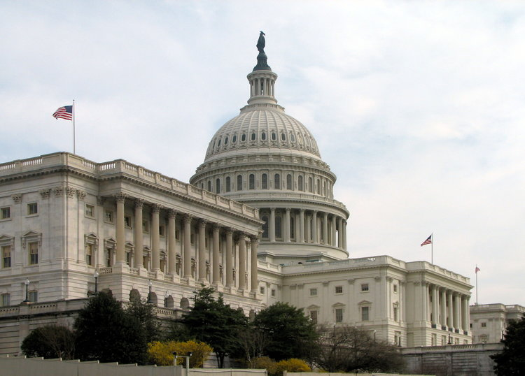 The Senate side of the U.S. Capitol. Credit: Wikimedia Commons.