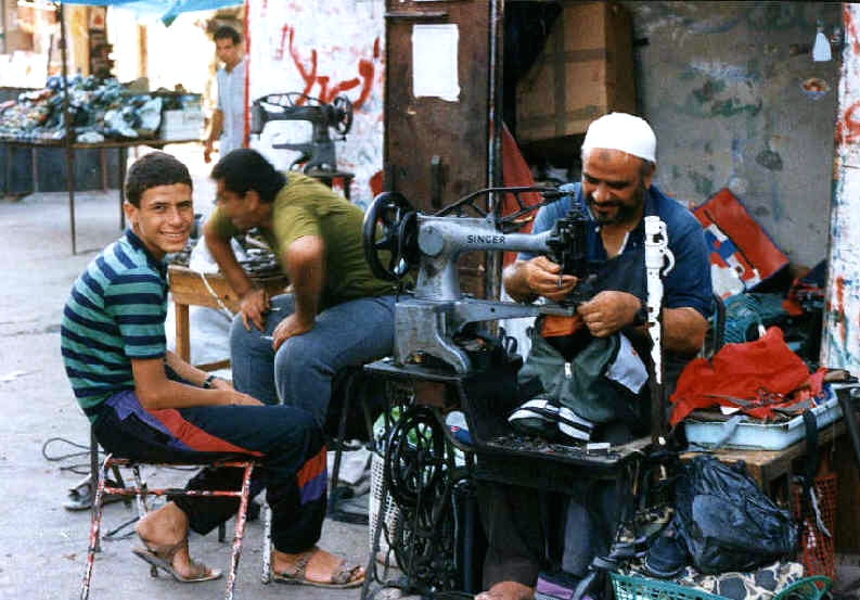Textile workers in Gaza. Credit: Wikimedia Commons.