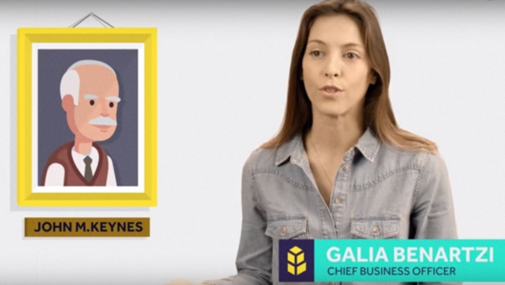 Galia Benartzi, the Bancor Foundation's co-founder, explains how the Israeli start-up's digital currency protocol was inspired by British economist John Maynard Keynes. Credit: YouTube.