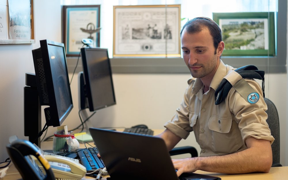 Sgt. Ilan Regenbaum (pictured), an American immigrant to Israel who grew up in Atlanta, was supposed to complete his military service in the Israeli Air Force's Innovation Department a year ago, but stayed on due to his love for the work. Credit: IDF.