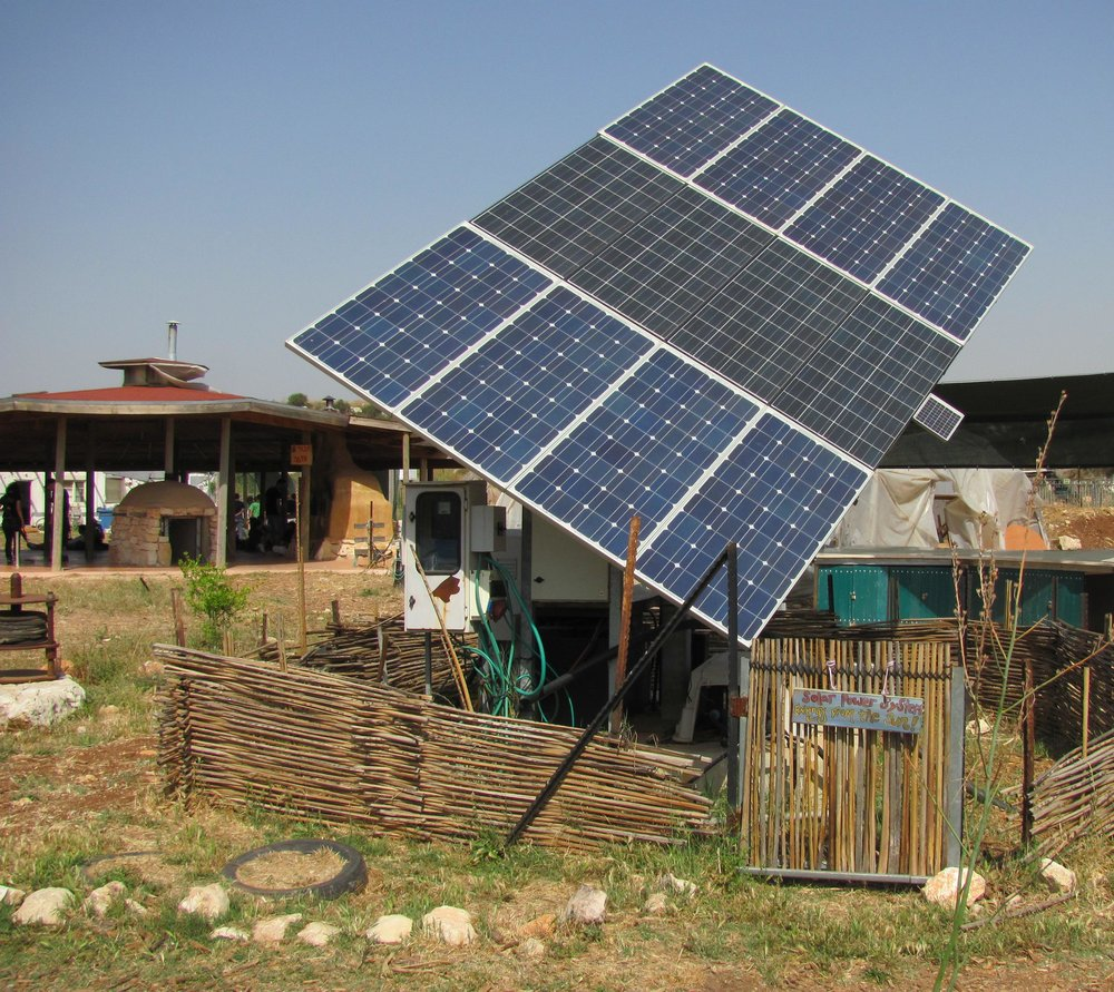 A solar panel in Israel. Credit: Wikimedia Commons.