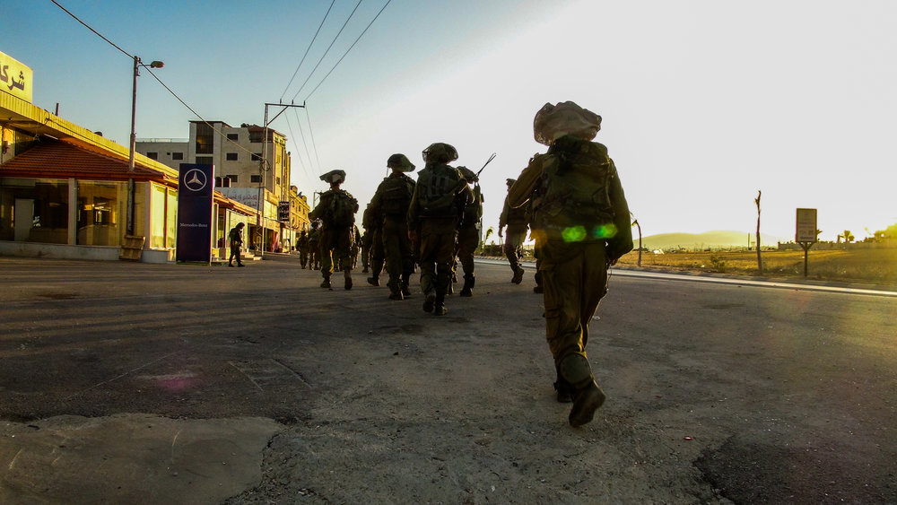 IDF soldiers in the Hebron area. Credit: IDF.