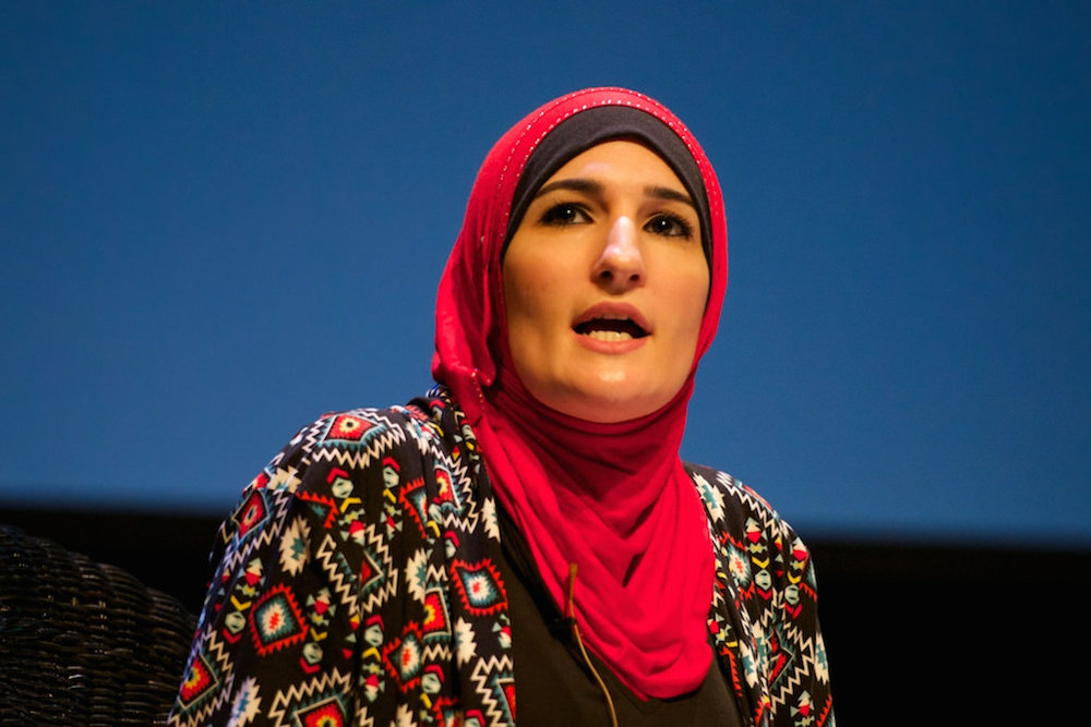 "Feminist activist and BDS promoter Linda Sarsour (pictured) is on a top 10 list of left-wing activists produced by the Coalition for Jewish Values. The activists are ""far more guilty of anti-Jewish defamatory speech"" than top alt-right figures listed separately by the Anti-Defamation League, the Coalition said. Credit: Festival of Faiths via Wikimedia Commons."