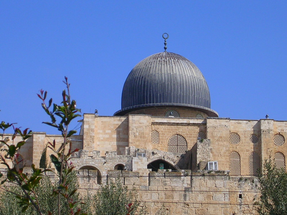 The Al-Aqsa mosque on the Temple Mount. Credit: Nikeman916 via Wikimedia Commons.