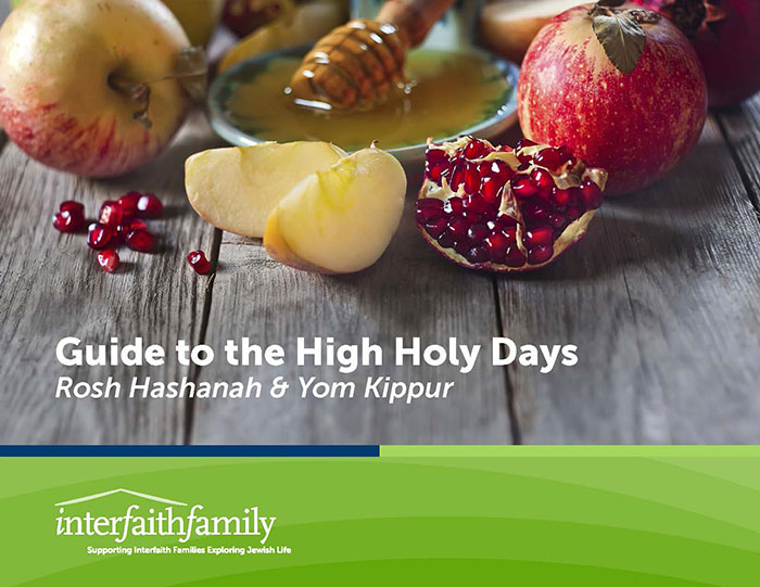 """The cover page of the Interfaith Family organization's """"Guide to the High Holy Days."""" Credit: Interfaith Family."""