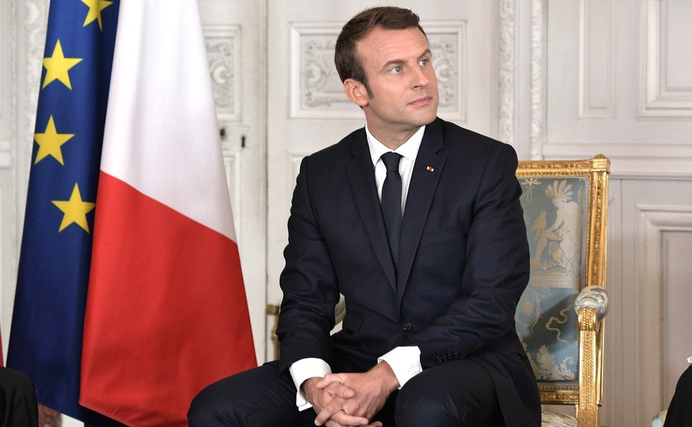 "French President Emmanuel Macron (pictured) has demanded that France's judiciary ""bring total clarity around the death of Sarah Halimi."" Credit: Kremlin.ru via Wikimedia Commons."