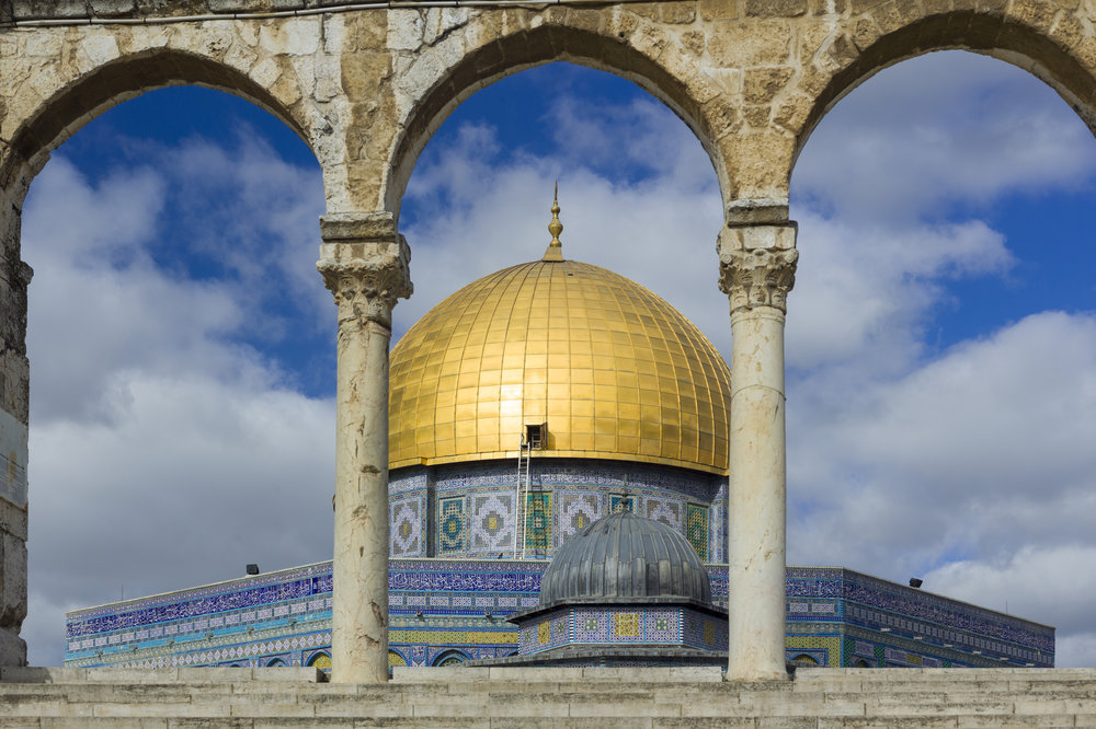 The Dome of the Rock on the Temple Mount. Credit: Andrew Shiva via Wikimedia Commons.