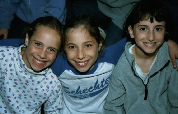 Eliana Rudee (center) at Camp Schechter in 2000. Credit: Courtesy of Eliana Rudee.