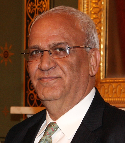 Palestinian Authority negotiator Saeb Erekat. Credit: Foreign and Commonwealth Office via Wikimedia Commons.