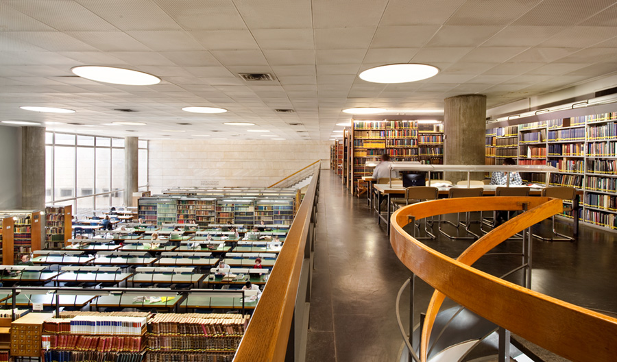 Inside the National Library of Israel. Credit:National Library of Israel.
