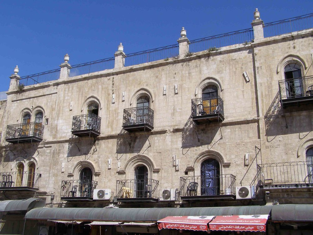The Petra Hotel (pictured) was part of a 13-year legal struggle over Jewish investors' purchase of properties owned by the Greek Orthodox Church and located in the Christian Quarter of Jerusalem's Old City. Credit: Ranbar via Wikimedia Commons.