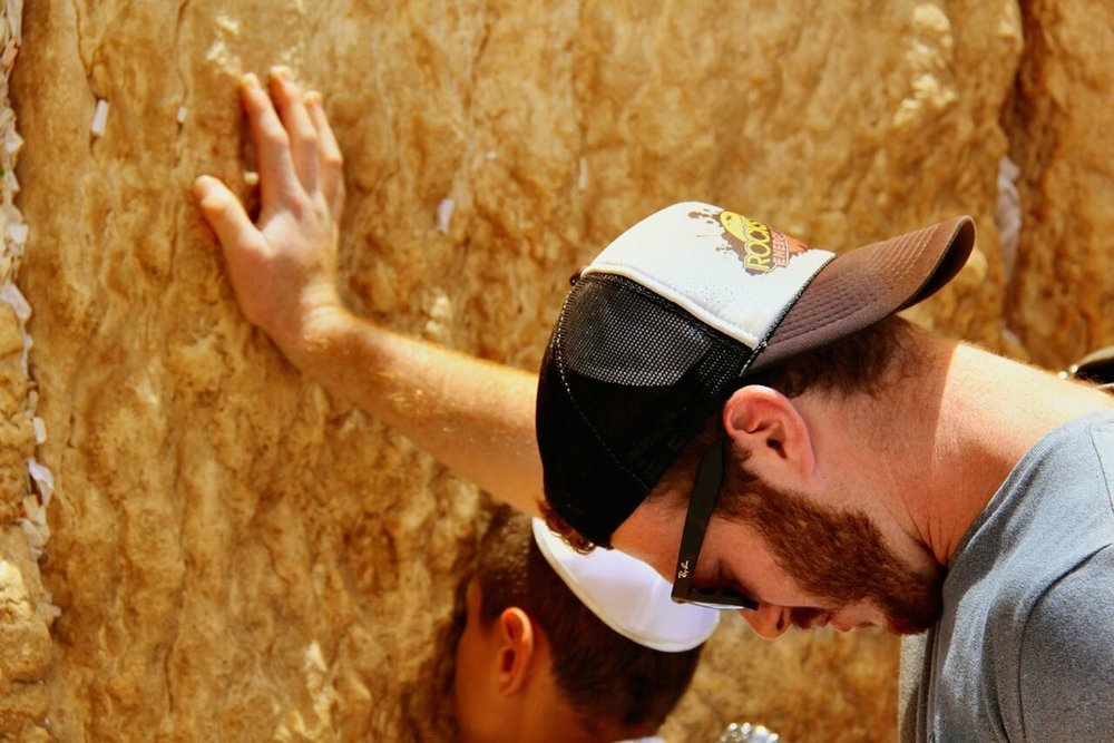 A Covenant Journey participant at the Western Wall in Jerusalem. Credit: Liberty Counsel.